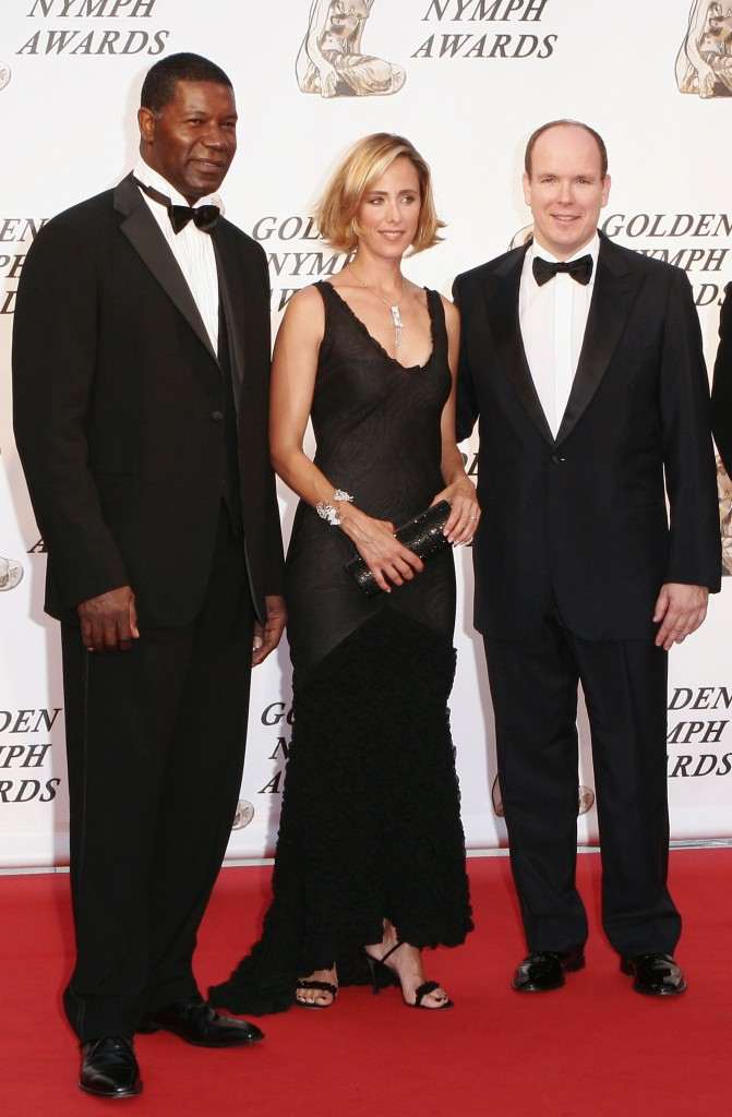 Dennis Haysbert and Kim Raver at Monte Carlo Television Festival 2006
