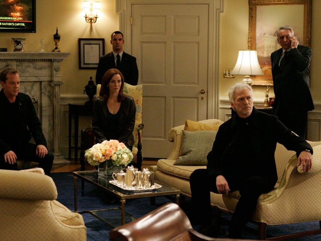 Jack Bauer Renee Walker Bill Buchanan at the White House in 24 Season 7 Episode 8