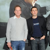 Kiefer Sutherland and Carlos Bernard at 24 Press Conference in Munich, Germany