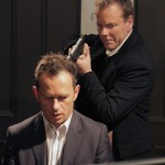 Kiefer Sutherland and Greg Ellis in The Confession promo pic