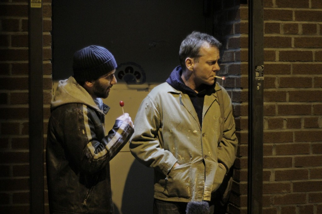 Max Casella and Kiefer Sutherland in The Confession promo still