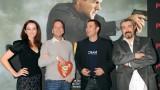 Annie Wersching, Kiefer Sutherland, Carlos Bernard, Jon Cassar at 24 Press Conference in Munich, Germany