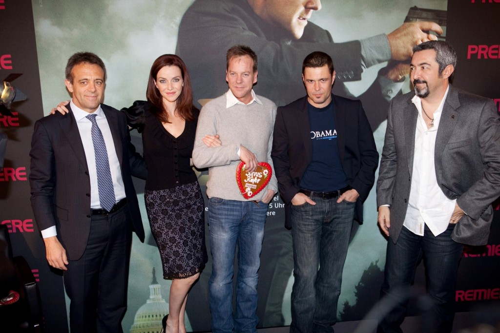 Annie Wersching Kiefer Sutherland Carlos Bernard and Jon Cassar at 24 Press Conference in Munich, Germany