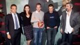 Annie Wersching Kiefer Sutherland Carlos Bernard and Jon Cassar at 24 Press Conference in Munich, Germany