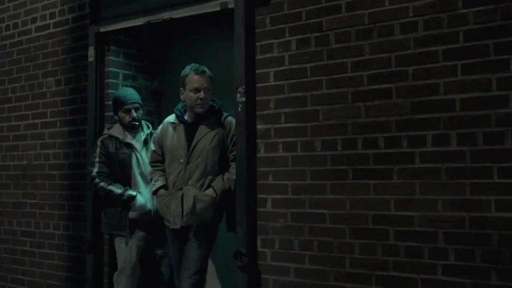 Kiefer Sutherland in The Confession leaving