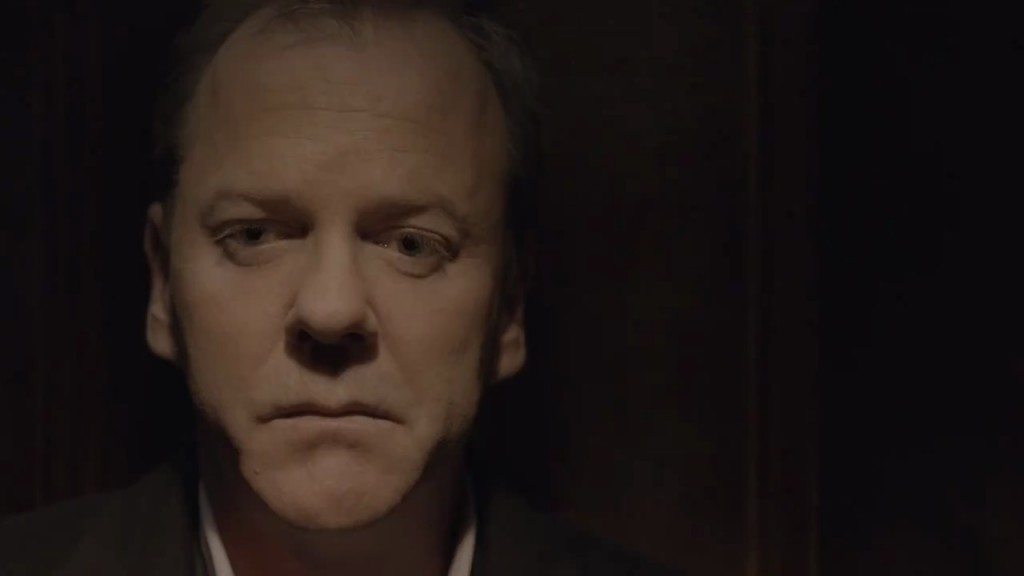 Kiefer Sutherland in The Confession tear