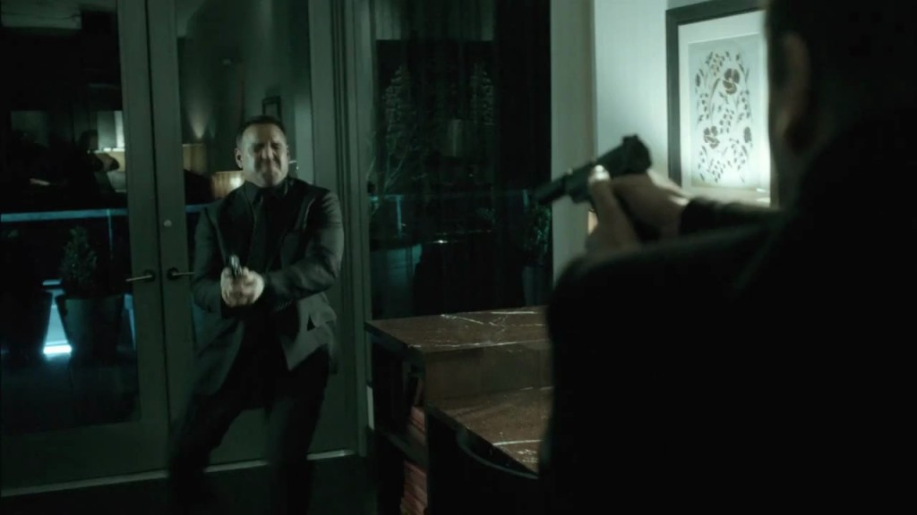 Kiefer Sutherland in The Confession shooting