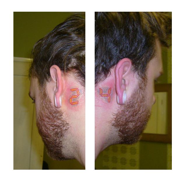 24 logo tattoo ears