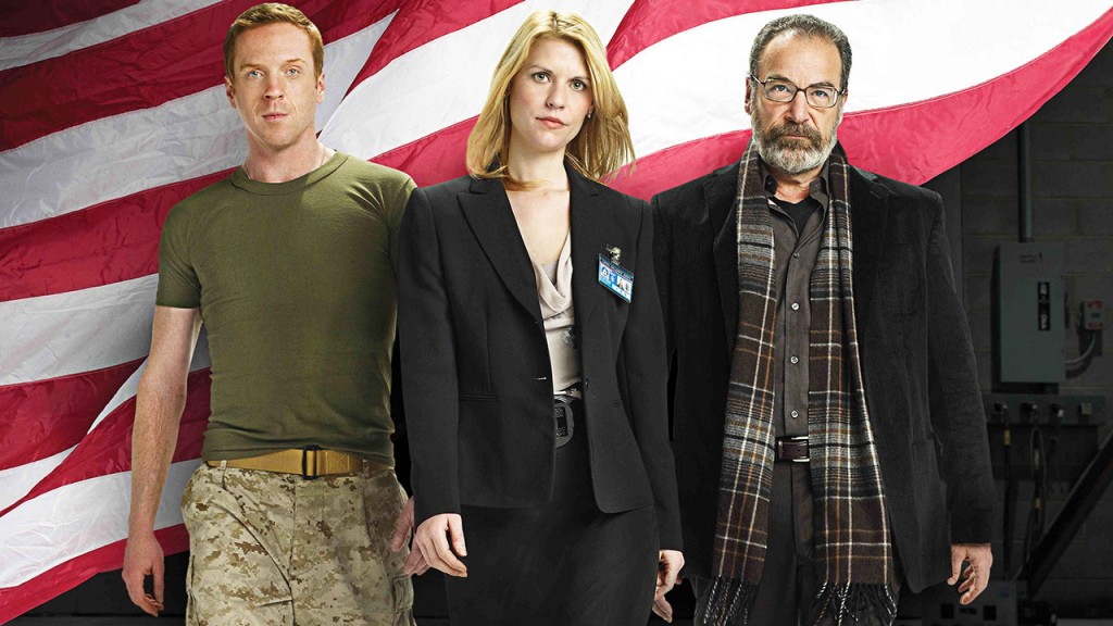 Homeland Season 1 cast photo with Damien Lewis, Claire Danes, and Mandy Patinkin