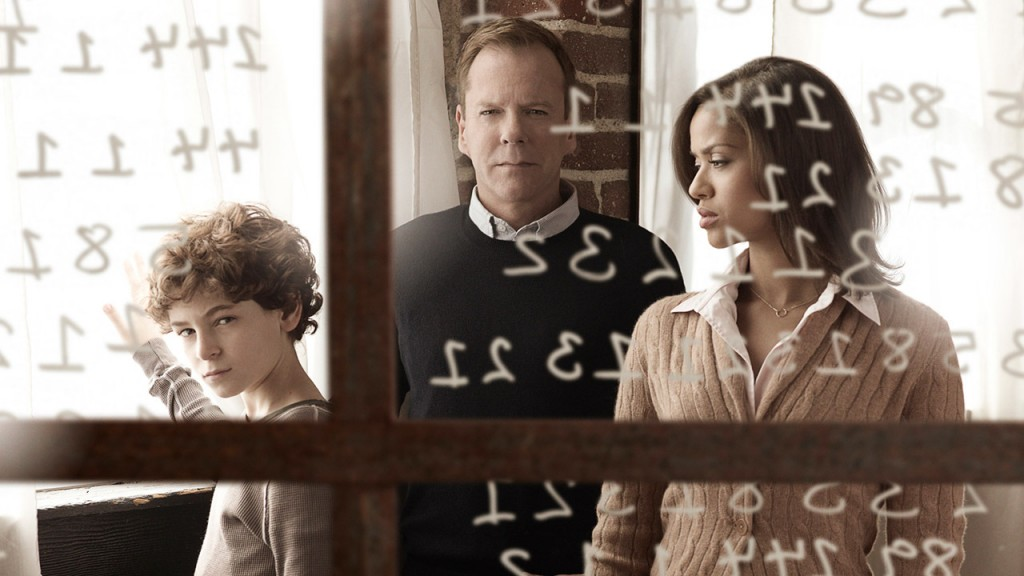 Kiefer Sutherland, David Mazouz, and Gugu Mbatha-Raw in a Touch Season 1 promotional photo