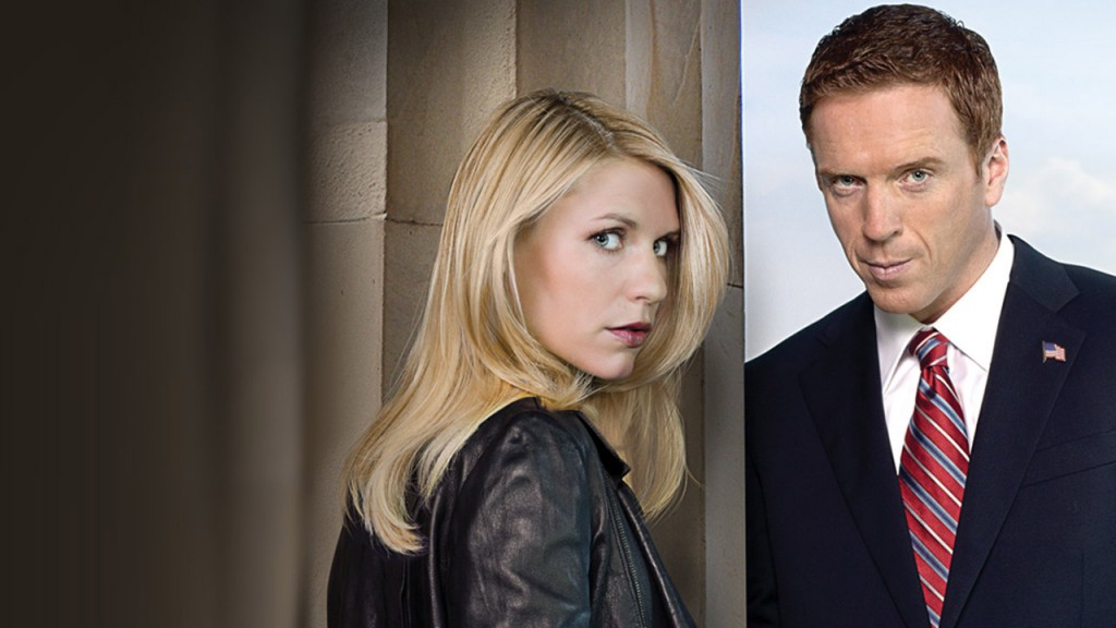 Homeland key art with Carrie Mathison (Claire Danes) and Nicholas Brody (Damien Lewis)