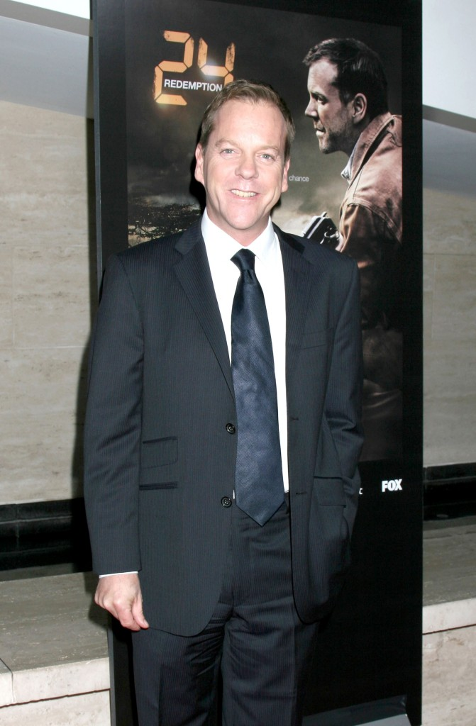 Kiefer Sutherland at 24 Redemption Photo Exhibit 3