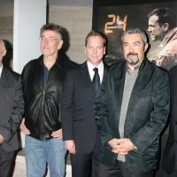 Kiefer Sutherland and group at 24 Redemption Photo Exhibit