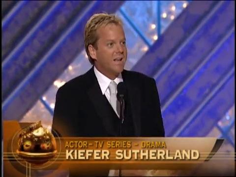 Kiefer Sutherland best actor in TV drama Golden Globes