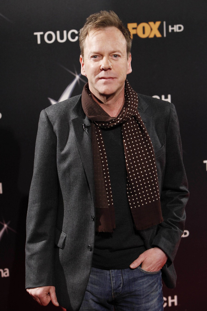 Kiefer Sutherland promoting Touch in Madrid