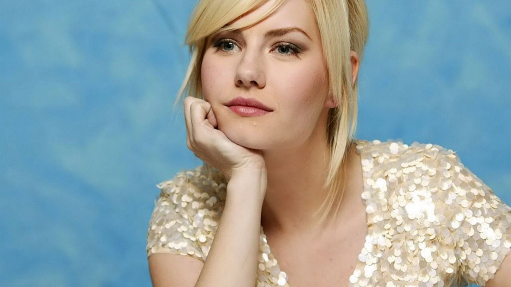 Elisha Cuthbert waiting patiently