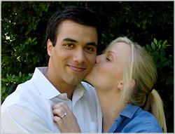 Marie Warner and Reza Wedding kiss