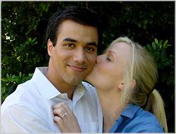 Marie Warner and Reza Wedding kiss