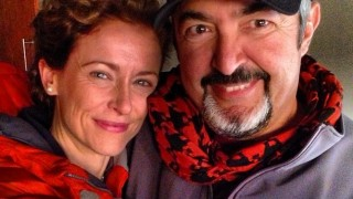 Jon Cassar and Leslie Hope on NBC's Revolution set