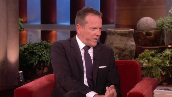 Kiefer Sutherland 24 Movie on Ellen 2013