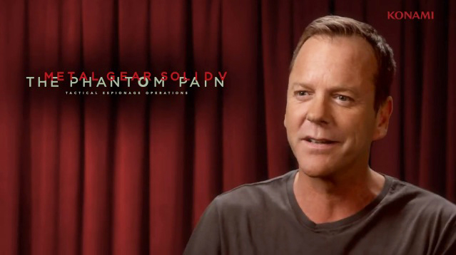 Kiefer Sutherland will be the new voice of Snake in Metal Gear Solid 5