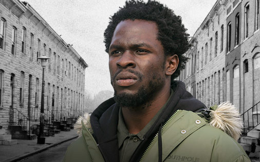 Gbenga Akinnagbe in The Wire
