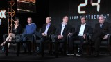 Mary Lynn Rajskub, Kiefer Sutherland, Howard Gordon, Evan Katz, Brian Grazer, and Manny Coto at the 24: Live Another Day Panel