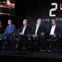 Mary Lynn Rajskub, Kiefer Sutherland, Howard Gordon, Evan Katz, Brian Grazer, and Manny Coto at the 24: Live Another Day Panel