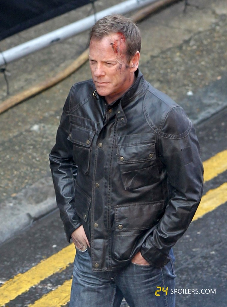 "Kiefer Sutherland Filming ""24: Live Another Day"" in London"