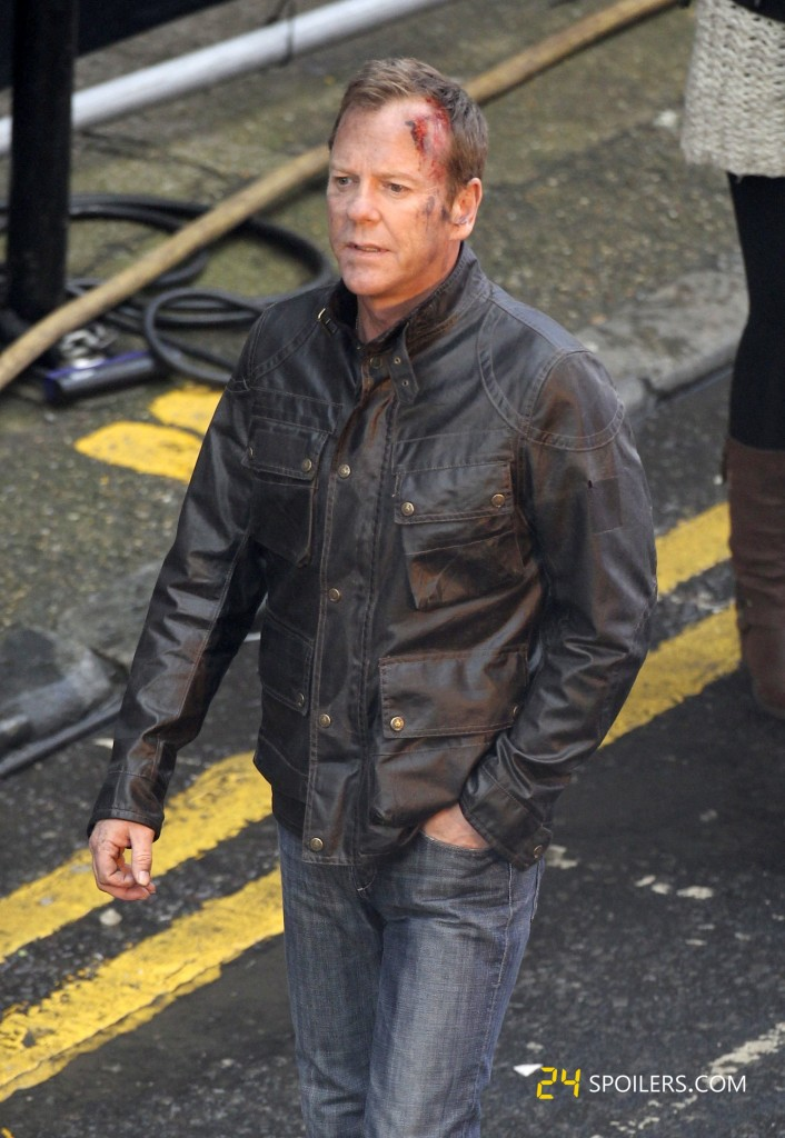 Kiefer Sutherland Films 24: Live Another Day in London