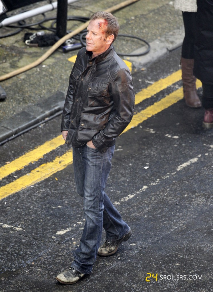 "Kiefer Sutherland Filming ""24: Live Another Day"" Promotional Video"