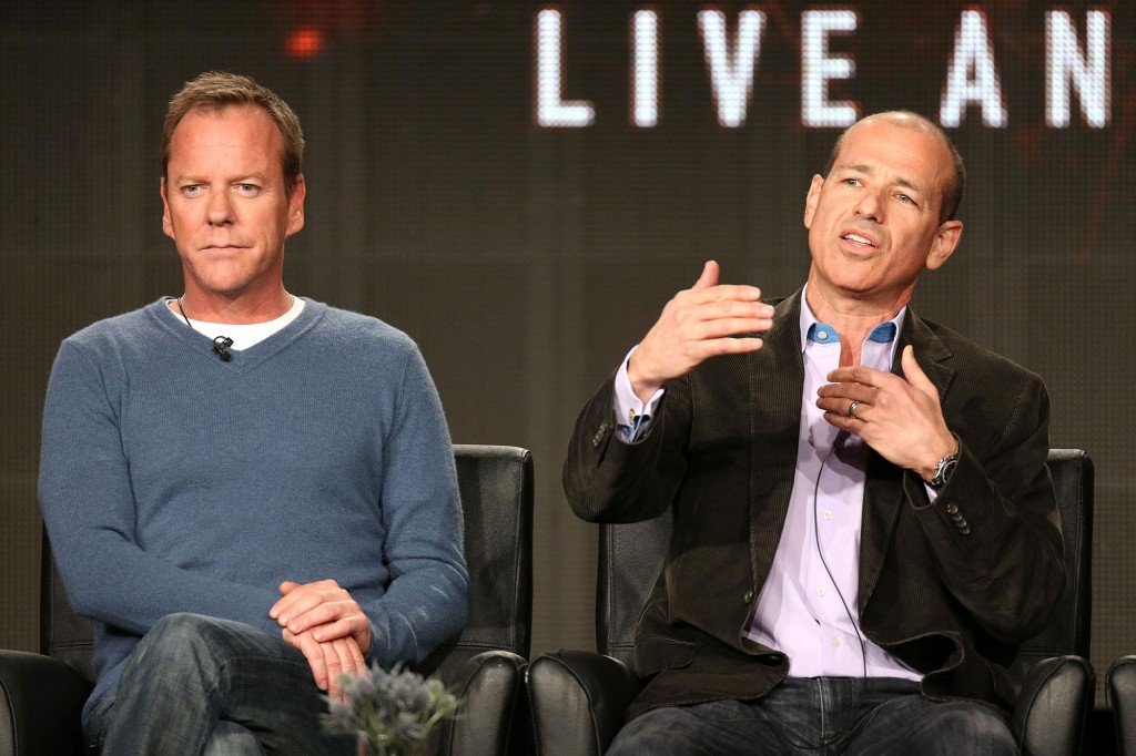 Kiefer Sutherland and Howard Gordon at the 24 Live Another Day Panel at 2014 FOX Wiinter TCA