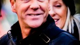 Kiefer Sutherland smiling on 24: Live Another Day Set - January 28, 2014