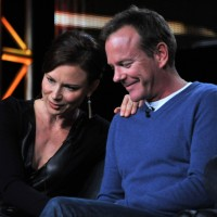 Mary Lynn Rajskub and Kiefer Sutherland on the 24: Live Another Day panel