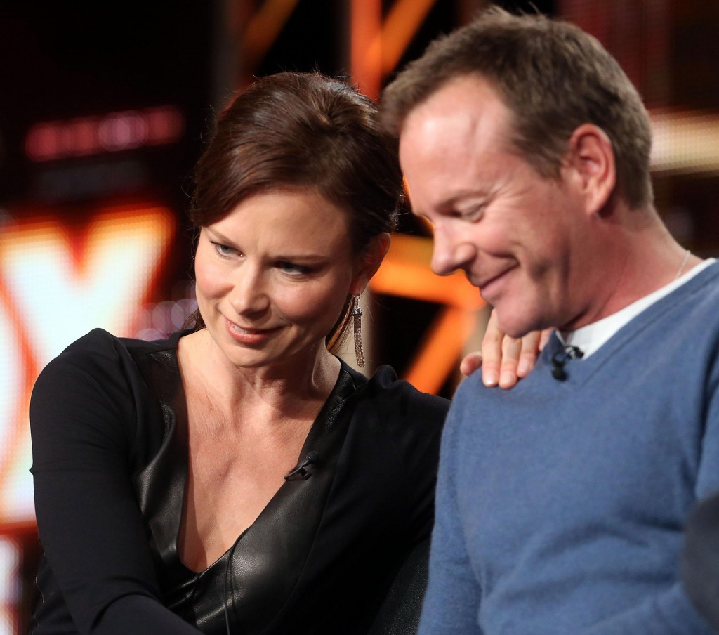Mary Lynn Rajskub and Kiefer Sutherland at the 24 Live Another Day Panel
