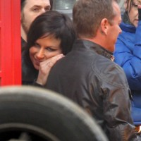 Mary Lynn Rajskub and Kiefer Sutherland filming 24: Live Another Day Promotional Video