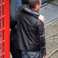 Mary Lynn Rajskub, Kiefer Sutherland filming 24: Live Another Day Promotional Video in London