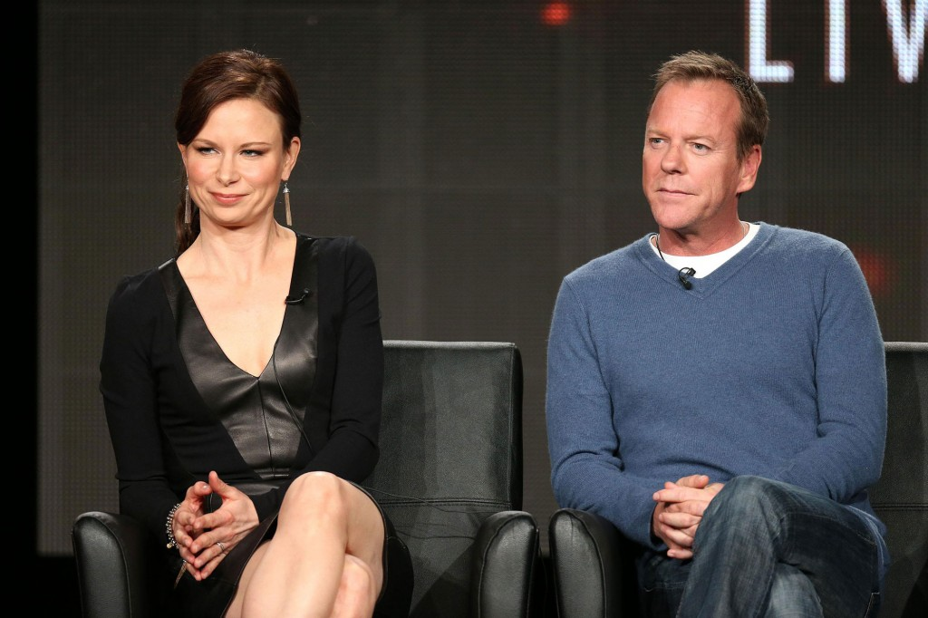 Mary Lynn Rajskub and Kiefer Sutherland at FOX TCA 2014 Panel