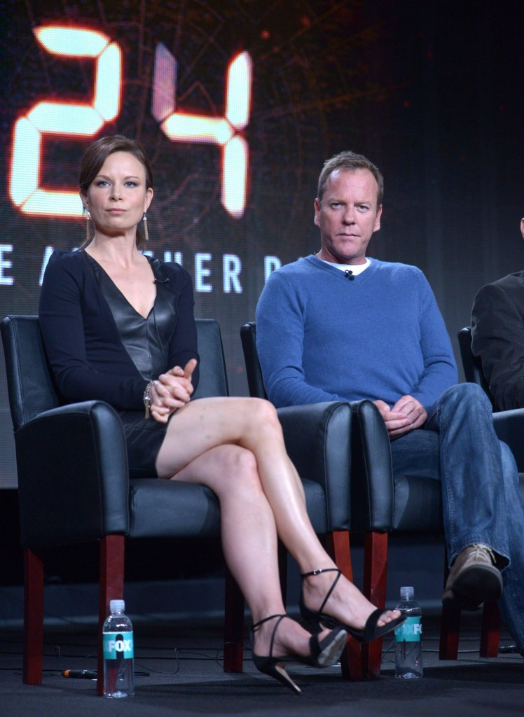 Mary Lynn Rajskub and Kiefer Sutherland at FOX's TCA Panel for 24 Live Another Day