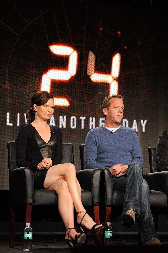 Mary Lynn Rajskub beautiful legs and Kiefer Sutherland at 24 Live Another Day TCA Panel
