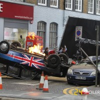 London cab explodes during 24: Live Another Day filming