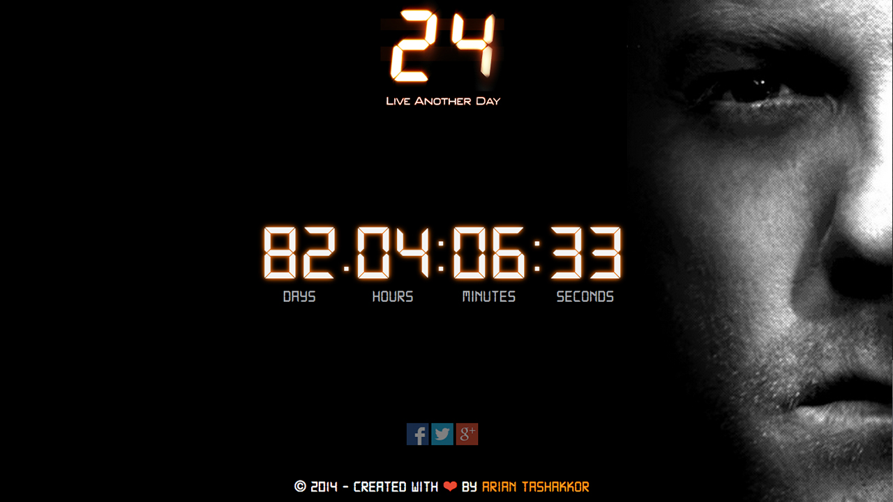 24: Live Another Day Countdown Clock - 24 Spoilers