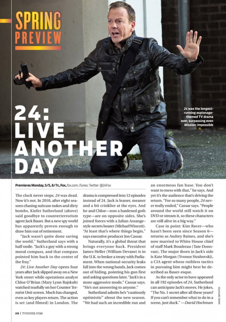 24: Live Another Day Preview in TV Guide Magazine