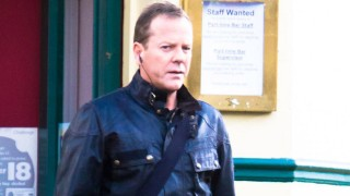 Kiefer Sutherland on the 24: Live Another Day set, January 28, 2014