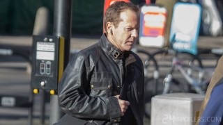 Kiefer Sutherland filming 24: Live Another Day - Set Photo (February 20, 2014)