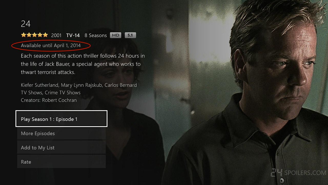 24 Expiring on Netflix April 1, 2014 - 24 Spoilers