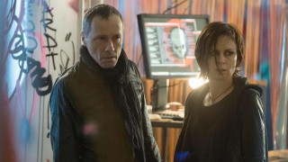 Adrian Cross and Chloe O'Brian in the 24: Live Another Day Premiere