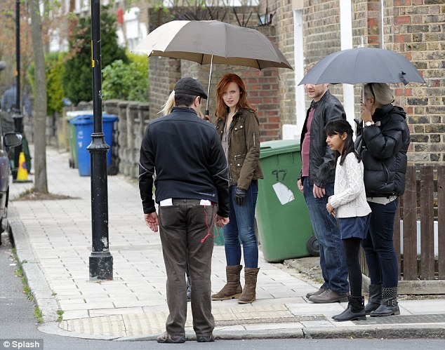 Emily Berrington filming 24: Live Another Day