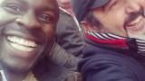 Gbenga Akinnagbe and Jon Cassar at Wembley Stadium