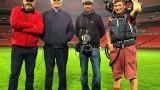 Jon Cassar and William Devane at Wembley Stadium